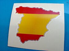 SPAIN Flag & Map Motorcycle Helmet Van Car Bumper Sticker Decal 1 off 80mm