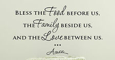 BLESS THIS FOOD WALL ART VINYL DECAL STICKER KITCHEN DINER PRAYER HOME DECOR