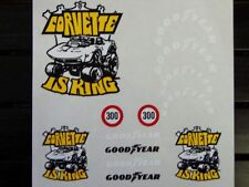Corvette is King decal set 1/8 1/10 Scale RC  Car truck crawler buggy stickers
