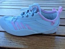 Girls Enzo Italian White/Pink Lace Lightweight  Sneakers  Girls Size 10 1/2 M