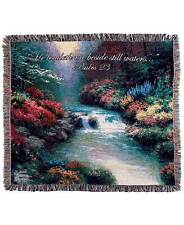 The Lakeside Collection Thomas Kinkade Beside Still Waters Throws