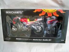 MINICHAMPS DUCATI DESMOSEDICI GP11 V.ROSSI SHOWBIKE 2011 1:12 SCALE (NEW)
