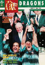 DRAGONS No19 Jun 1994 RUGBY MAG CARDIFF WIN WRU CUP MARK PEREGO MIKE HALL