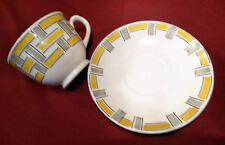 Egersund Norsk Flint Norway Art Deco Criss Cross Cup & Saucer