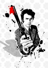 Dirty Harry Clint Eastwood street stenci graffiti Art poster film icons Cboyle