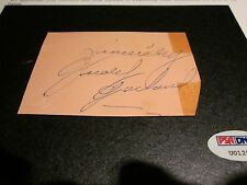JUDY GARLAND PSA/DNA AUTOGRAPH CUT SIGNATURE SIGNED AUTHENTIC - WIZARD OF OZ