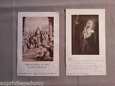 2 Images pieuses anciennes : Rameaux, Ôde à la Vierge 1930-1931