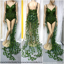 Ful Poison Ivy Monokini Gown Dress Costume Rave Bra Rave Wear Cosplay MTO