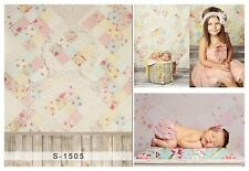 Flower Wall Baby Wood Background Photography Backdrop Studio Props 3x5ft Vinyl