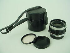 Olympus 25mm F/4 Auto-W E. Zuiko Lens w/Caps and Case for Pen-F FT FV