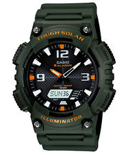 Casio New AQ-S810W-3A ANALOG DIGITAL Watch Tough Solar Illuminator Green AQ-S810