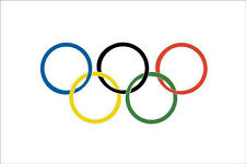 3' x 2' Olympic Rings Flag Winter Summer Olympics Sports Games Banner