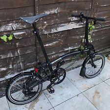 Brompton Bicicletta Pieghevole SL 2 Velocità Gloss Matt Black Edition