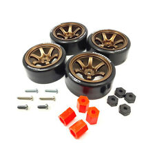 4PCS 1/10 RC Rims Speed Racing Car Drift Tires Drifting Wheel Modified Parts