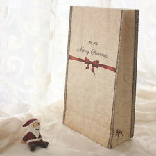 6pcs/lot Cute Christmas Kraft Paper Bag Bake Gift Bags Party Wedding Packaging
