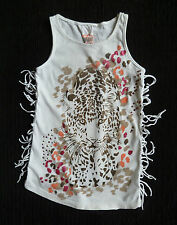 Kids clothes GIRL 6-7 years NEW! t-shirt-style dress white sparkly art leopard