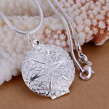 Fashion 925 sterling Silver Plated Charms Pendant Beautiful women Necklace P167