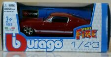 Bburago 1:43 Die-Cast Metal Street Fire Red Ford GT  New in box 3+
