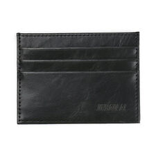 Men's PU Slim Wallet ID Credit Card Black Wallet Holder Purse Money Clip