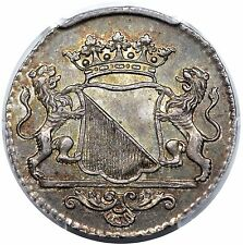 1762 Netherlands: Utrecht Duit, silver, PCGS MS63, nicely toned, scarce