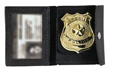 Rothco 1129 Black Leather Law Enforcement Badge & ID Holder