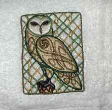 CELTIC KNOT OWL EMBROIDERED SET OF 2 BATHROOM TOWELS