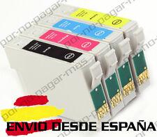 4 CARTUCHOS DE TINTA COMPATIBLE NON OEM EPSON STYLUS DX7400 DX7450 T0711/2/3/4