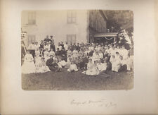 BEAUTIFUL PORTRAIT OF VICTORIAN ERA FOURTH OF JULY GROUP   CHILDREN IN CARRIAGE