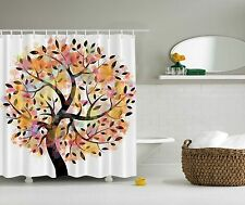 Autumn Tree of Life Digital Artwork Fabric Shower Curtain