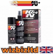 K&N Motorbike Air Filter Cleaner and Recharger Service Kit (Aerosol) KN995000