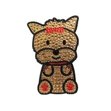 Yorkie Dog Rhinestone Glitter Jewel Phone Ipod Iphone Sticker Decal