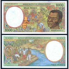 CENTRAL AFRICAN REPUBLIC ( C. A. S. ) 1000 Francs 1999 UNC Pick 302F f