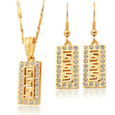 Swarovski Element Crystal 18K Gold Plated Earrings And Necklace Jewellery Set