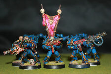 5X Warhammer painted Chaos Space Marines Night Lords Man Squad painted byChilean