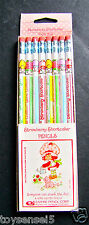 8 vintage STRAWBERRY SHORTCAKE #2 pencils
