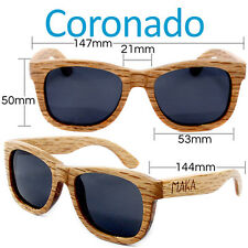 Wayfarer Wood Sunglasses Duwood Light Brown Wooden Shades Polarizing Lenses NEW!