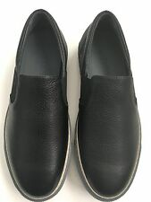 $ 590 Lanvin Black Leather Slip-On Sneakers Sz 8 US