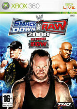 WWE Smackdown VS Raw 2008 (Wrestling) XBOX 360 IT IMPORT THQ