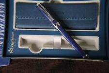 Waterman Exception Blue Fountain Pen - mint uninked