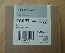 05-2016 NEW GENUINE EPSON T6067 LIGHT BLACK 220ml K3 INK STYLUS PRO 4800 4880