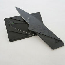 1pc Portable Outdoor Cardsharp Credit Card Safety Folding Knife Survival Tool &&