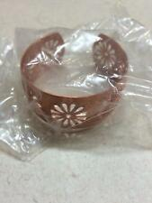 BEAUTIFUL Copper Cuff Bracelet with Flower Cutouts - FACTORY SEALED
