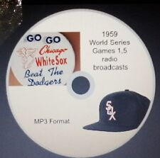1959 World Series radio broadcast in MP3 Chicago White Sox - 2 complete games