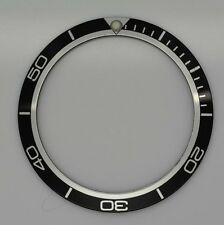 BEZEL INSERT OMEGA PLANET OCEAN WATCH BLACK SILVER PART GENERIC DIAL PART