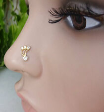 Indian Nose Ring Tiny Nose Stud Nose Piercing 925 Sterling Silver Nose Stud CZ