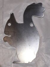 "Ar500 Squirrel Silhouette Steel Target Gong 12"" X 8"" X 3/8"""