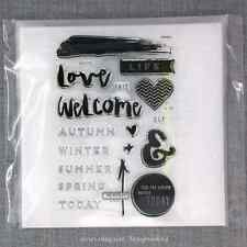 Close to my Heart CTMH Acrylic Stamps Set CC1042 Hello Life Scrapbooking - NEW