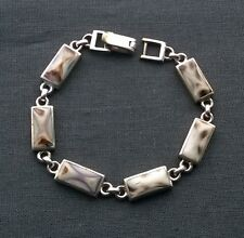Finest Quality Solid 925 Argento Sterling probabile Messico MADE Shell Bracciale 7.5