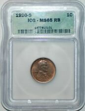 1920 S ICG MS65RB Red and Brown Lincoln Cent