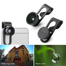 Universal Clip On Wide Angle Macro Lens Camera Lenses for Smartphones